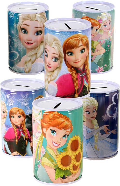 Pokladnička dětská Frozen (Ledové Království) plechovka 6 druhů