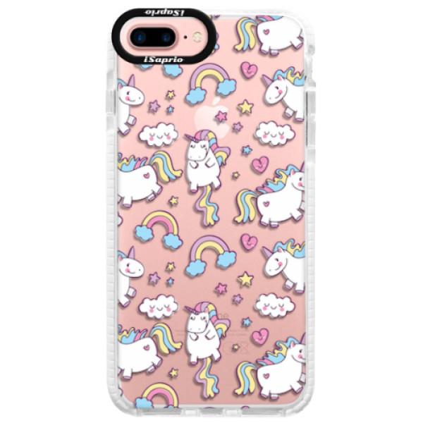 Silikonové pouzdro Bumper iSaprio - Unicorn pattern 02 - iPhone 7 Plus