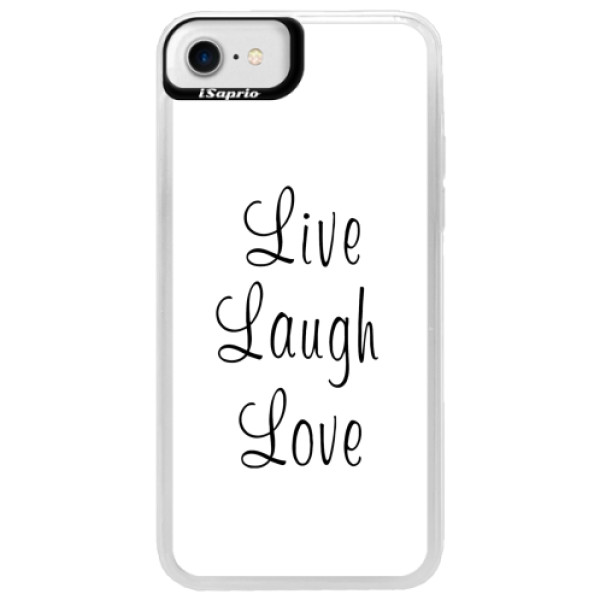 Neonové pouzdro Blue iSaprio - Live Laugh Love - iPhone 7