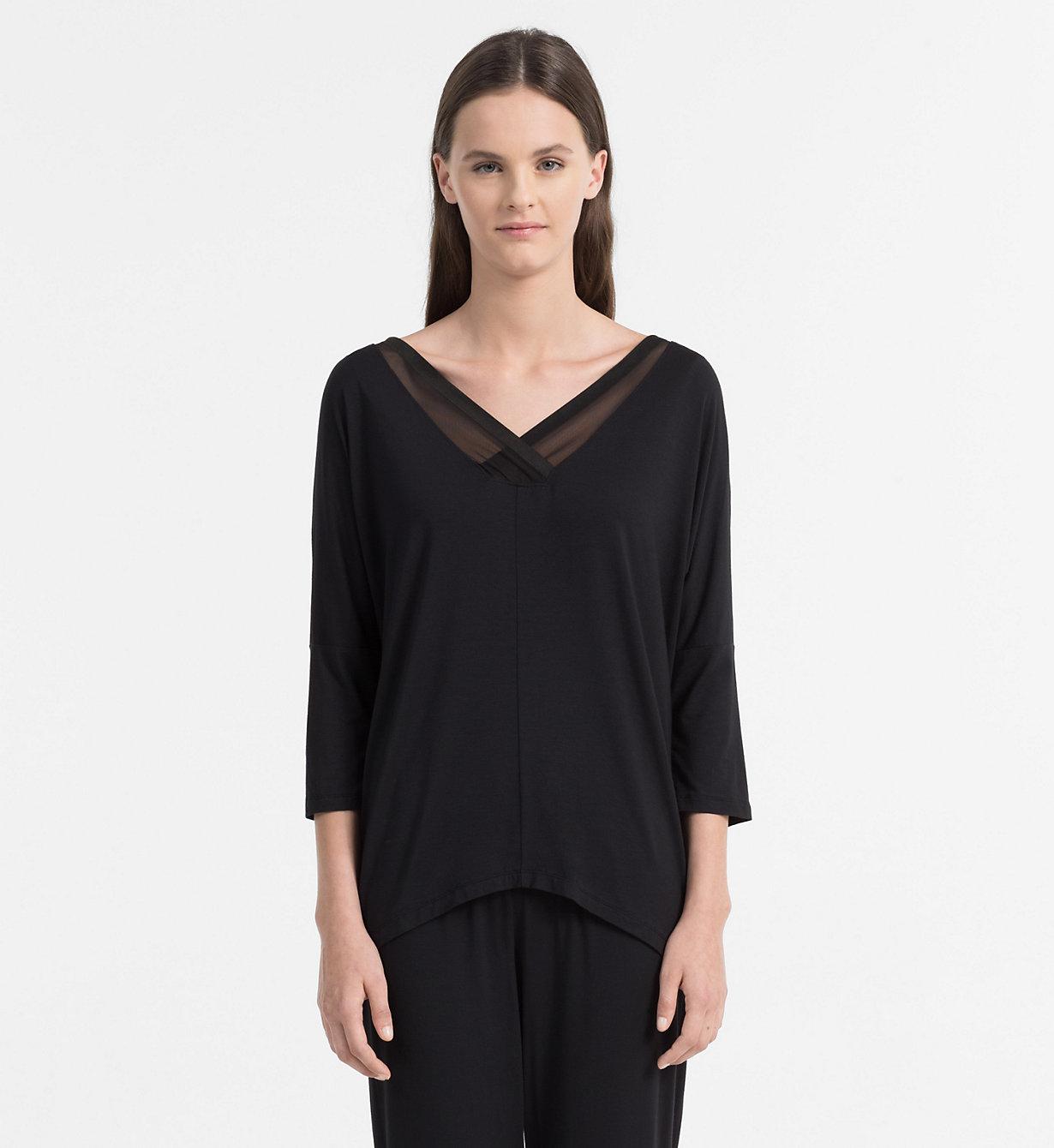 Dámské triko QS5780E - Calvin Klein - Vínová/S