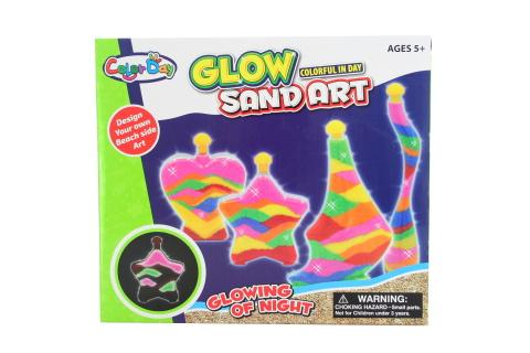Výrobek z písku fluoreskující