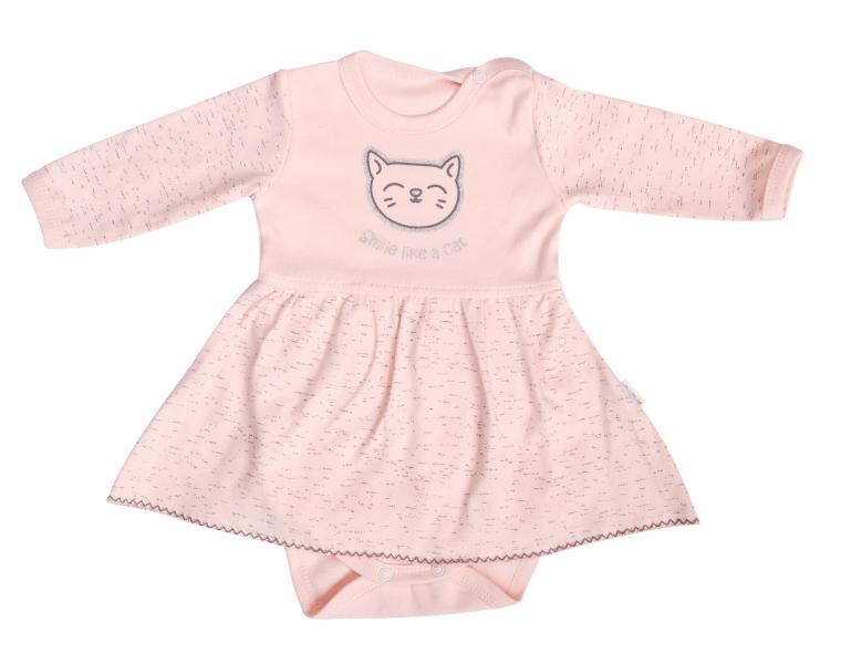 Mamatti Bavlněné sukničkobody Cat - dlouhý rukáv, vel.