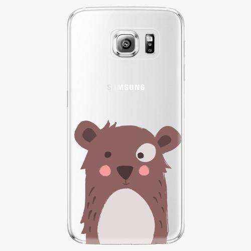 Plastový kryt iSaprio - Brown Bear - Samsung Galaxy S6