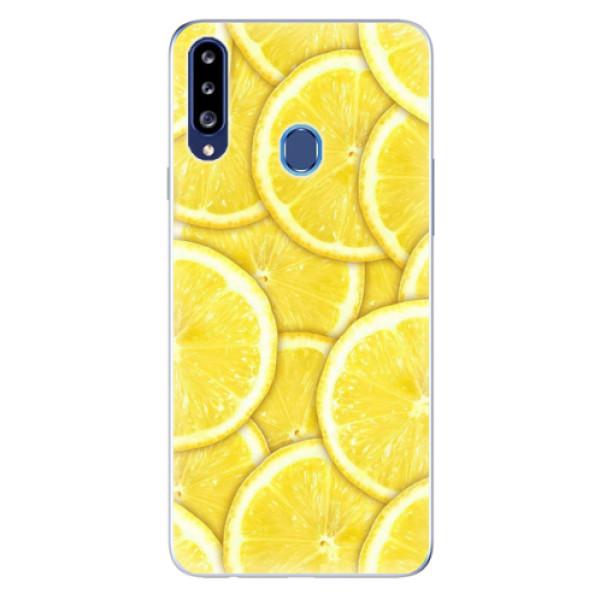 Odolné silikonové pouzdro iSaprio - Yellow - Samsung Galaxy A20s