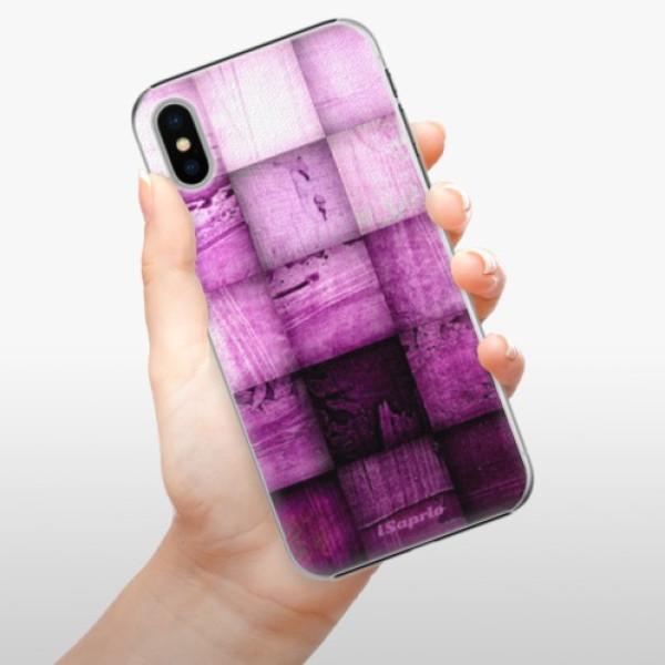Plastové pouzdro iSaprio - Purple Squares - iPhone X