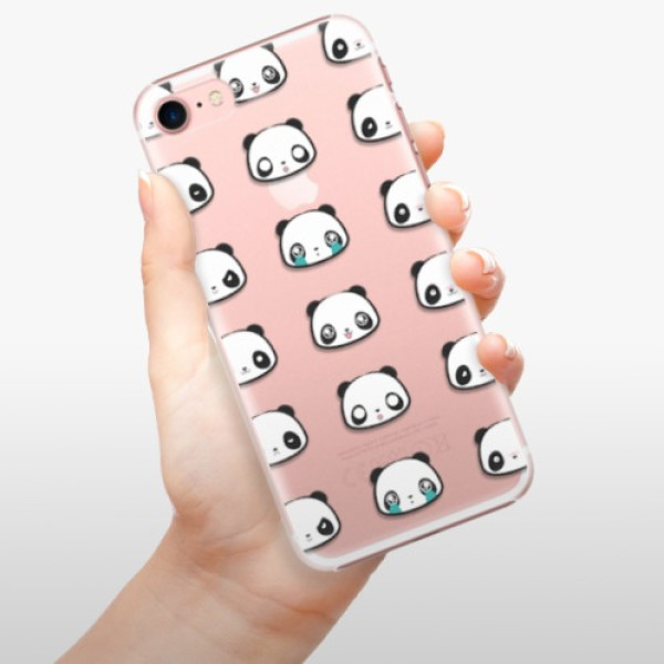Plastové pouzdro iSaprio - Panda pattern 01 - iPhone 7