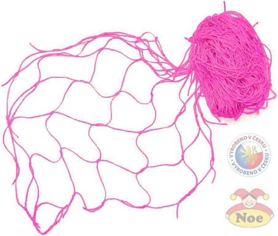Siť dekorační Růžová na aranžování 5x1m na zavěšování hraček