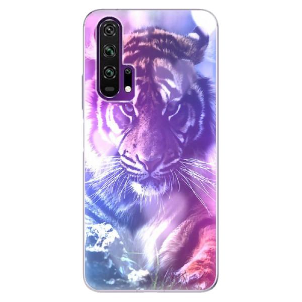 Odolné silikonové pouzdro iSaprio - Purple Tiger - Honor 20 Pro