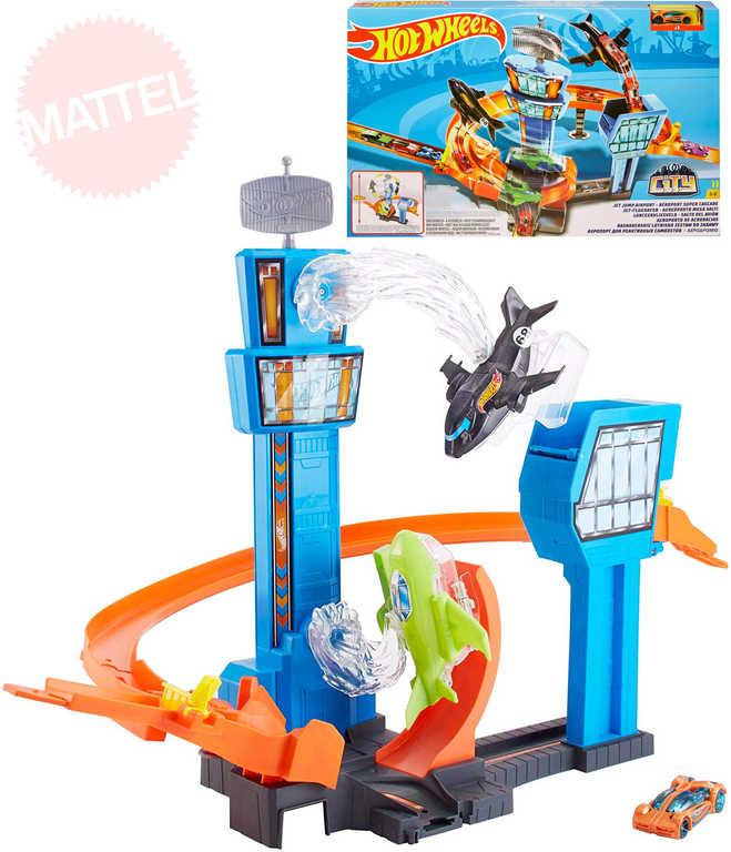 MATTEL HOT WHEELS City tryskáč na letišti herní set s autíčkem na baterie