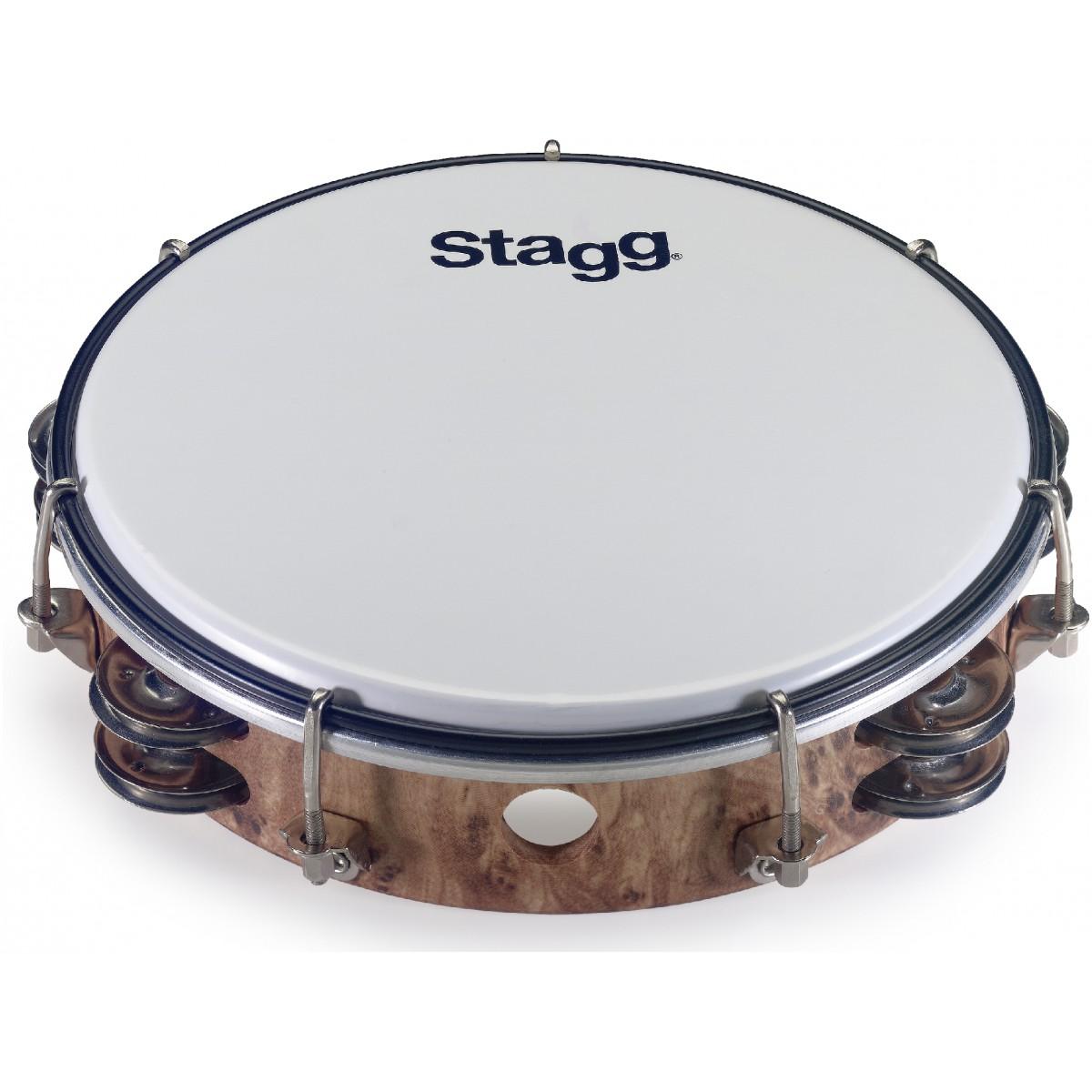 "Stagg TAB-208P/WD, dvouřadá laditelná tamburína, 8"""