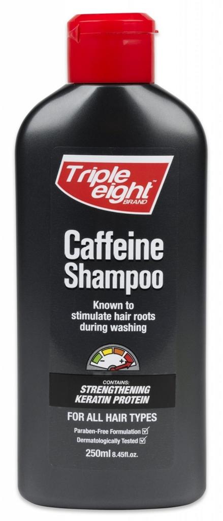 Triple Eight Caffeine kofeinový šampon k stimulaci růstu vlasů pro všechny typy 250 ml