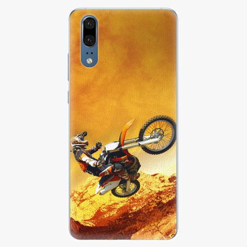 Silikonové pouzdro iSaprio - Motocross - Huawei P20