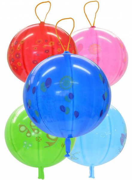 GEMAR Balónek nafukovací punch ball potištěný s gumičkou 45/141 8 mix GPBD1