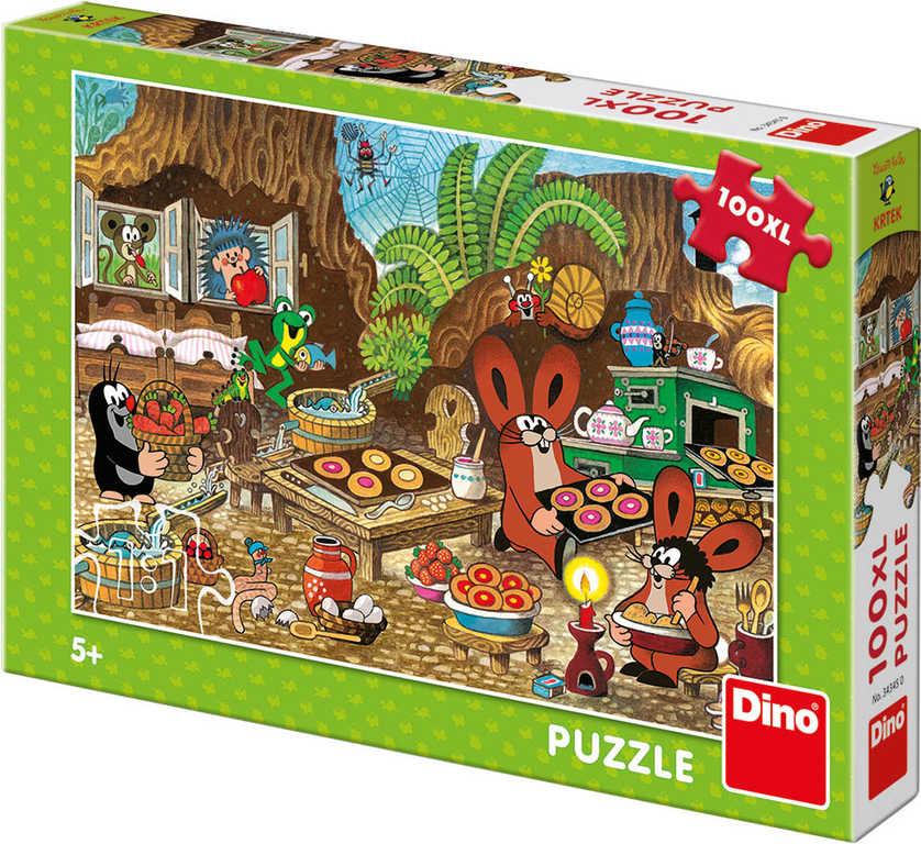 DINO Puzzle XL Krtek v kuchyni (Krteček) 100 dílků 47x33cm skládačka v krabici