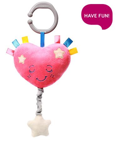Plyšové srdíčko s hracím strojkem Lullaby Heart - růžové
