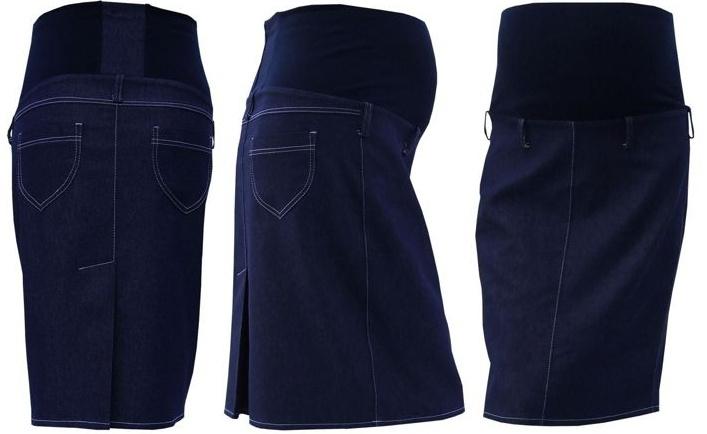 Těhotenská sukně jeans SOMI - jeans - XXL
