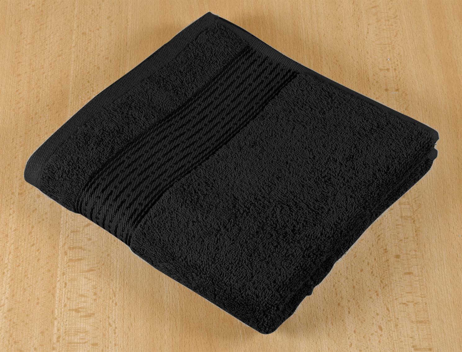 Froté ručník 50x100cm proužek 450g černá