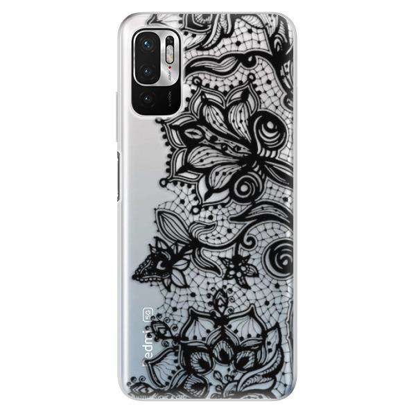 Odolné silikonové pouzdro iSaprio - Black Lace - Xiaomi Redmi Note 10 5G