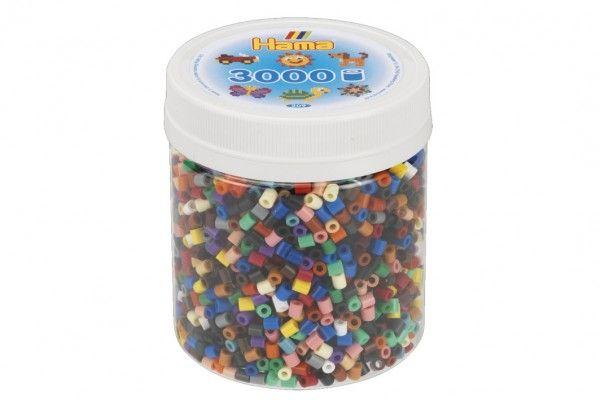 Korálky zažehlovací plast 3000 ks v dóze