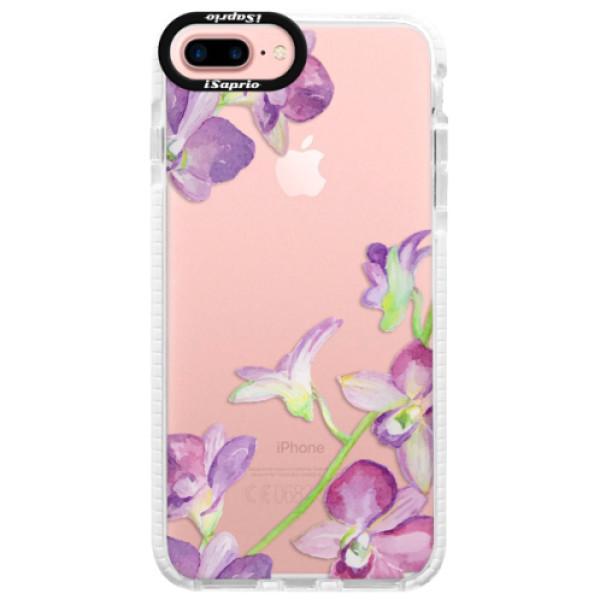 Silikonové pouzdro Bumper iSaprio - Purple Orchid - iPhone 7 Plus
