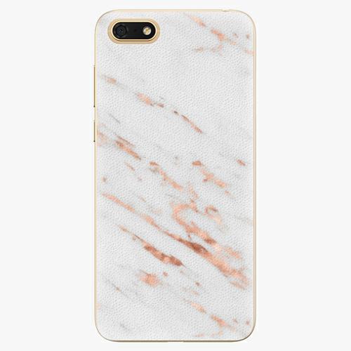 Silikonové pouzdro iSaprio - Rose Gold Marble - Huawei Honor 7S