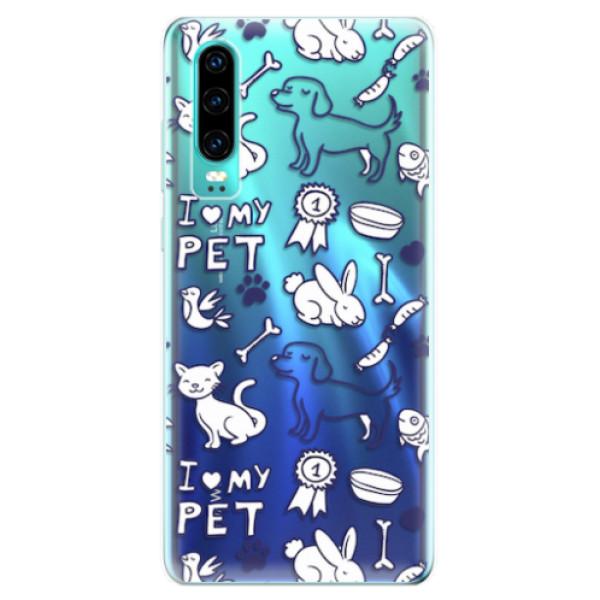 Odolné silikonové pouzdro iSaprio - Love my pets - Huawei P30