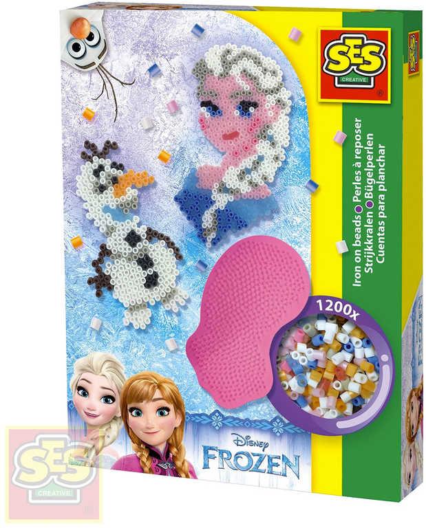 SES CREATIVE Korálky zažehlovací Frozen kreativní set 1200ks s podložkou