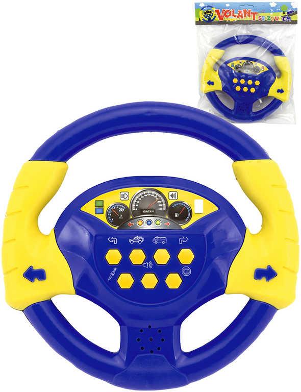 Baby volant žluto-modrý 20 cm na baterie