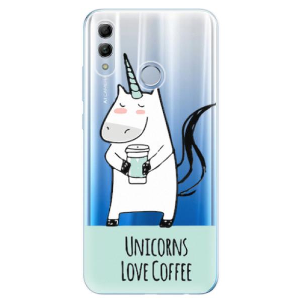 Odolné silikonové pouzdro iSaprio - Unicorns Love Coffee - Huawei Honor 10 Lite