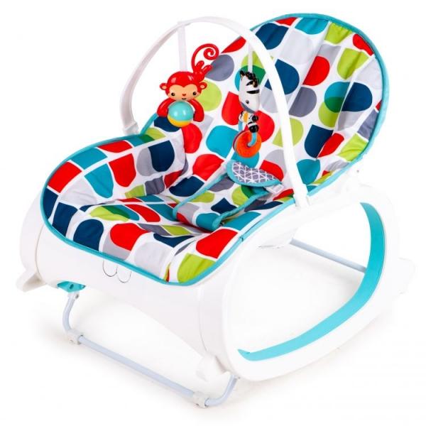 Eco toys Multifunkční lehátko, kolébka s vibrací a hudbou