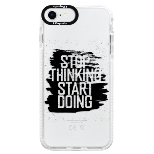 Silikonové pouzdro Bumper iSaprio - Start Doing - black - iPhone SE 2020