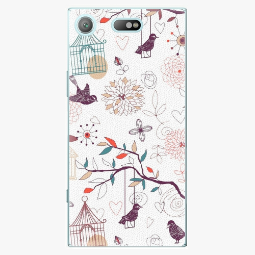 Plastový kryt iSaprio - Birds - Sony Xperia XZ1 Compact