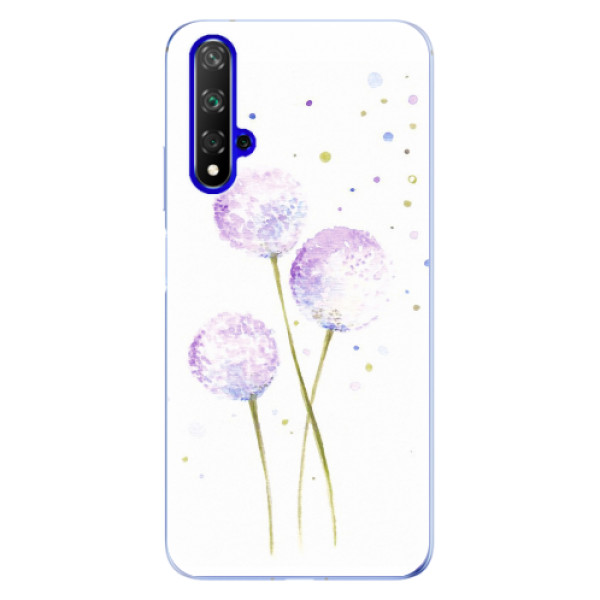 Odolné silikonové pouzdro iSaprio - Dandelion - Huawei Honor 20