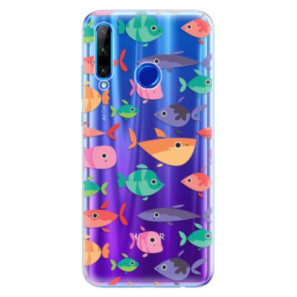 Odolné silikonové pouzdro iSaprio - Fish pattern 01 - Huawei Honor 20 Lite