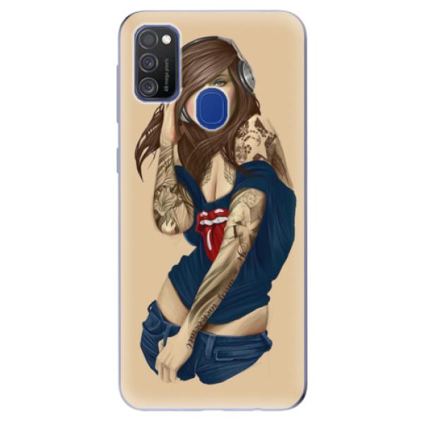 Odolné silikonové pouzdro iSaprio - Girl 03 - Samsung Galaxy M21