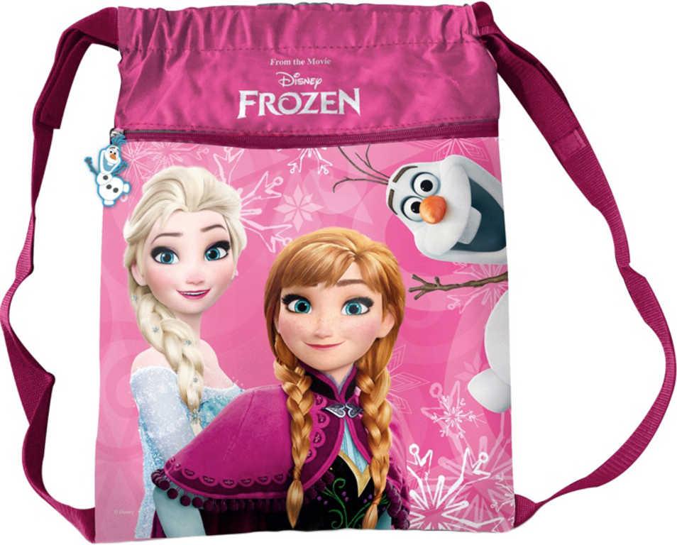 Batoh dětský holčičí Frozen (Ledové Království) velký růžový pytlík v sáčku