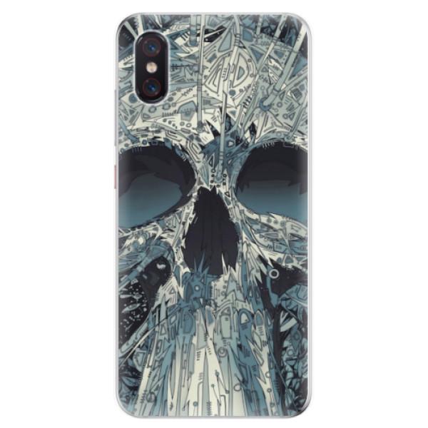 Odolné silikonové pouzdro iSaprio - Abstract Skull - Xiaomi Mi 8 Pro