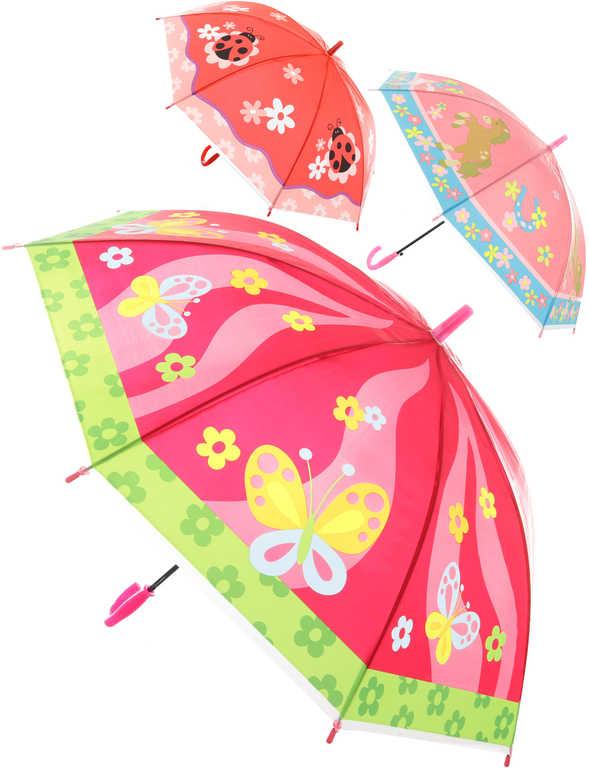 Deštník dětský automatický zvířátka 84cm různé druhy v sáčku