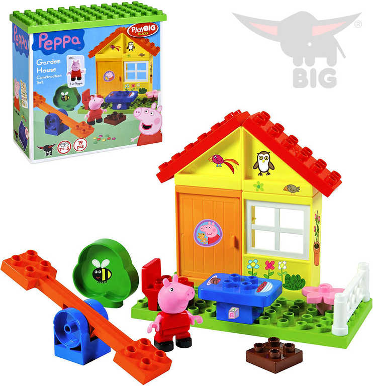 BIG PlayBig Bloxx prasátko Peppa Pig zahradní domek set s figurkou STAVEBNICE