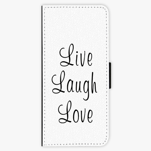Flipové pouzdro iSaprio - Live Laugh Love - Samsung Galaxy J3