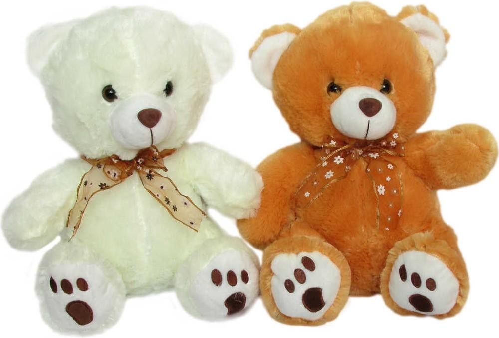 PLYŠ Medvědice Kamča 34 cm s mašlí - 2 barvy