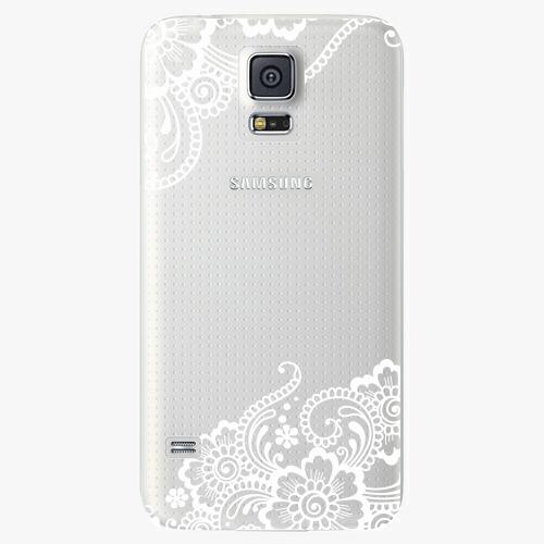 Plastový kryt iSaprio - White Lace 02 - Samsung Galaxy S5
