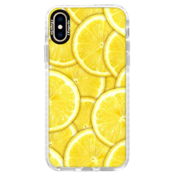 Silikonové pouzdro Bumper iSaprio - Yellow - iPhone XS