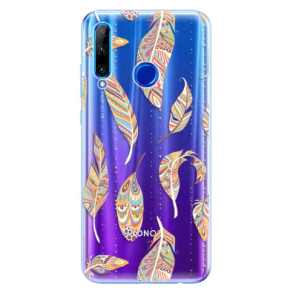 Odolné silikonové pouzdro iSaprio - Feather pattern 02 - Huawei Honor 20 Lite