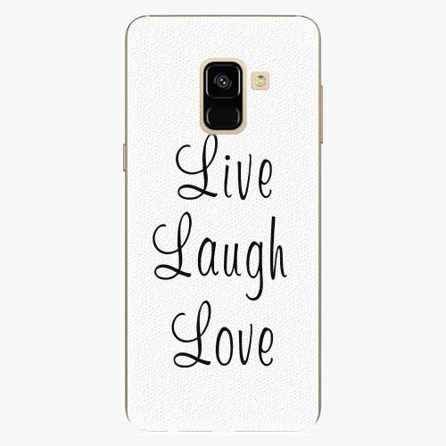 Plastový kryt iSaprio - Live Laugh Love - Samsung Galaxy A8 2018