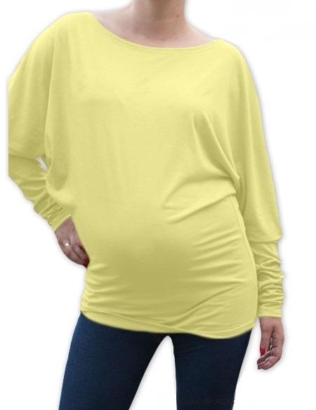 Be MaaMaa Symetrická těhotenská tunika - žlutá