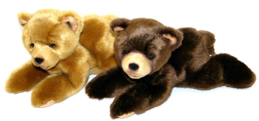 PLYŠ Medvěd 15 cm ležící - 2 druhy