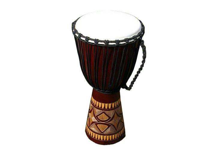 Africký buben Djembe, 70 cm - ručně řezaný