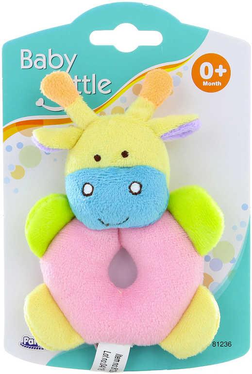 PLYŠ Baby chrastítko žirafa 14cm pro miminko