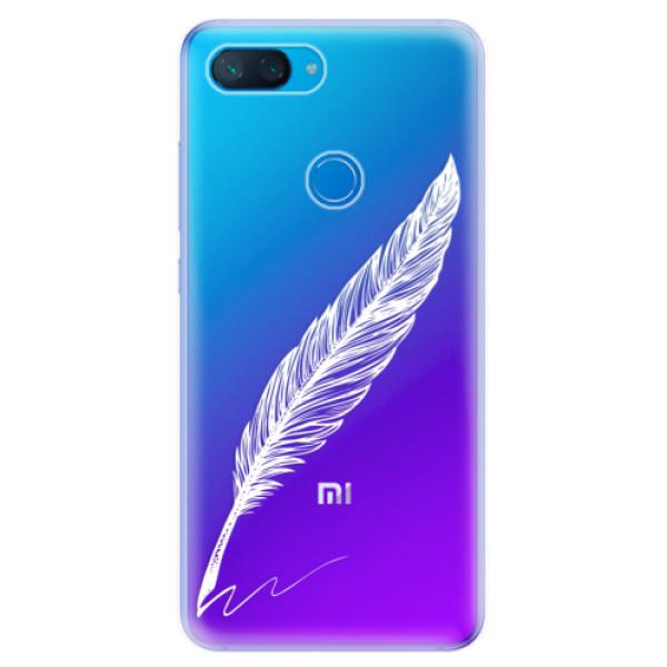 Odolné silikonové pouzdro iSaprio - Writing By Feather - white - Xiaomi Mi 8 Lite